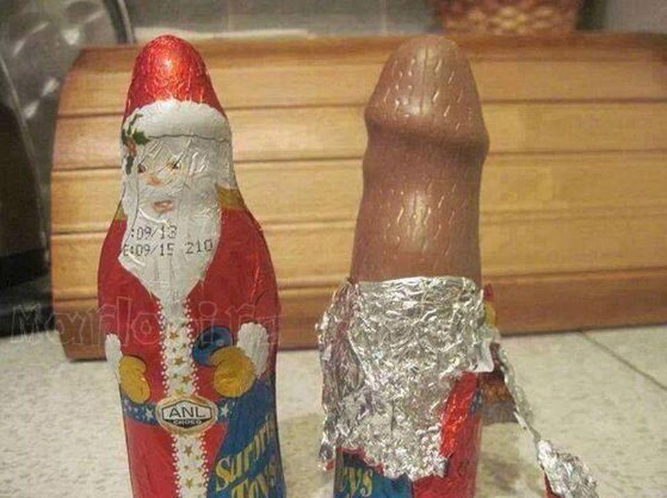 Ambalajul arata ca un Mos Craciun de ciocolata, dar in interior este ceva extrem de vulgar! Cum sa le dai copiiilor mici asa ceva?