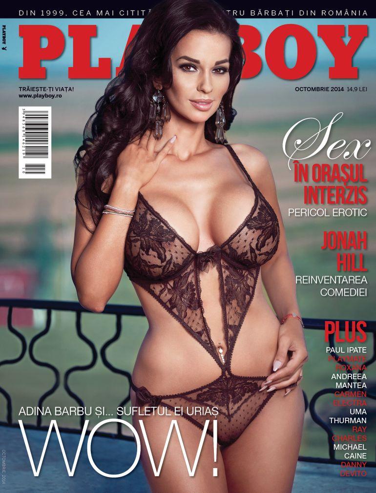 Ce spune Adina Barbu despre comparatia cu Nicoleta Luciu! Bruneta face din nou senzatie in paginile revistei Playboy