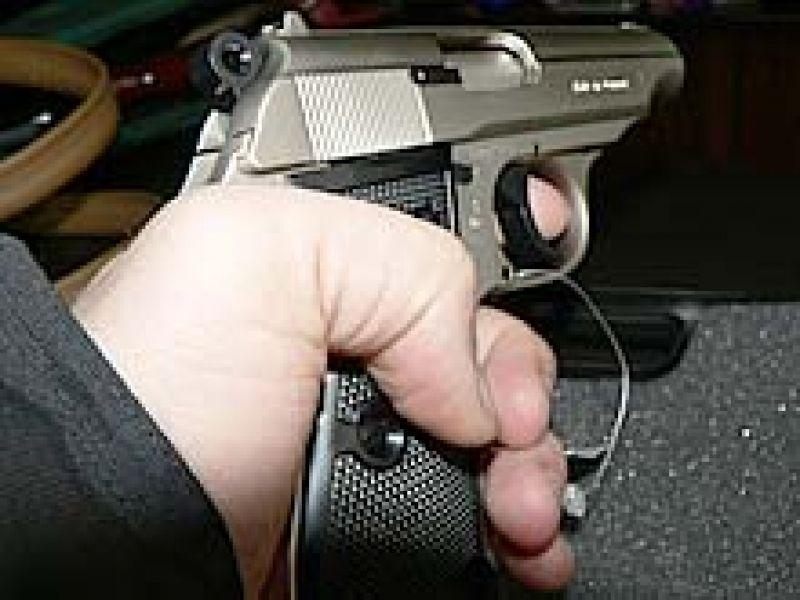 Pistol in anus photo 589