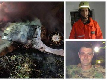 Ei sunt bărbaţii morţi în accidentul din Arad! Au fost găsiţi complet carbonizaţi