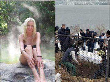 IMAGINILE DURERII la înmormântarea Ancăi Pop! A fost îngropată în sicriu alb, foarte aproape de apă