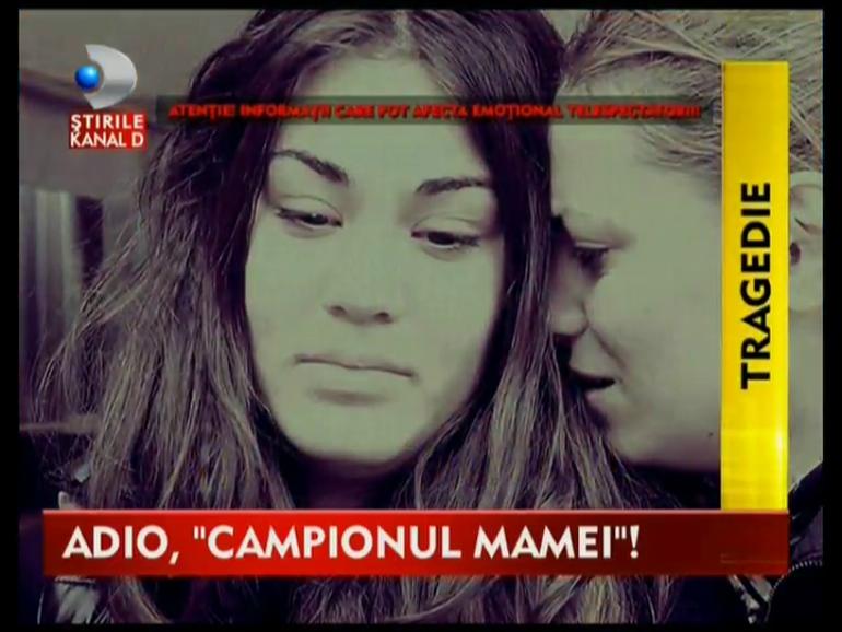 Imagini crunte de la inmormantarea lui Alex Ionita, pustiul de 19 ani din curtea Rapidului!