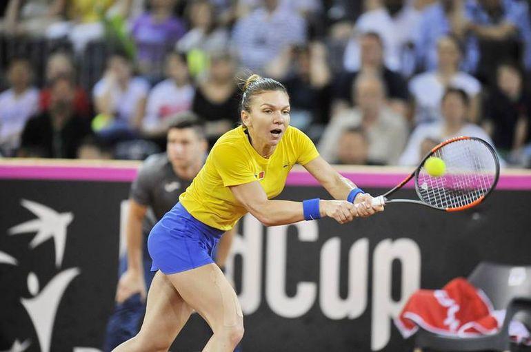 Cehia-România, FED CUP: Simona Halep a învins-o pe Katerina Siniakova: