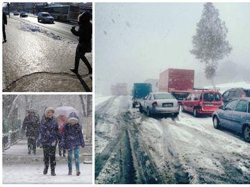 Prognoza meteo: temperaturi scăzute, ninsori și lapoviță