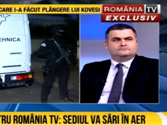 Alertă cu bombă la sediul România TV! Ministrul Apărării se află în studio
