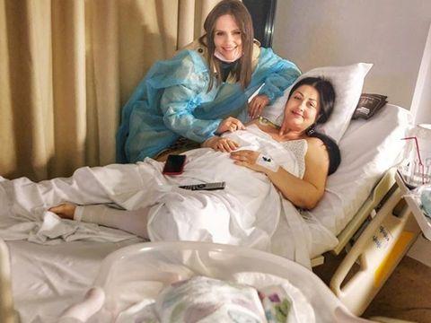 Cristina Șișcanu a intrat în salon la Gabriela Cristea. Cum a găsit-o pe vedetă, alături de micuța nou născută