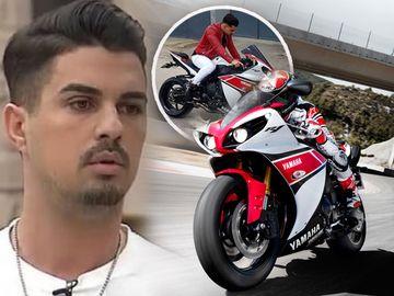 """None de la """"Puterea dragostei"""" călăreşte o motocicletă de colecţie! Uite-l pe Mădălin cum s-a asortat cu bolidul pe două roţi! FOTO"""