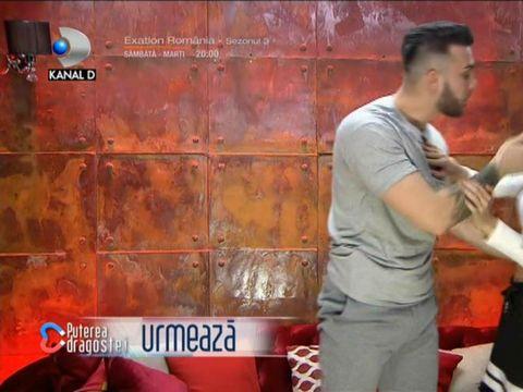 Alexandru a sărit să o sărute pe Bianca în camera roșie de la Puterea Dragostei! Cum a reacționat concurenta