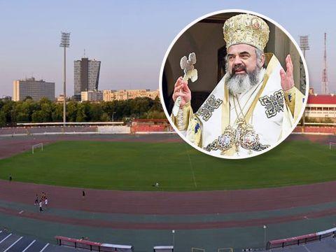 Dinamo a donat tablă de un milion de euro pentru Catedrala Neamului! Stadionul din Ştefan cel Mare a rămas fără copertină, materialul fiind folosit de Patriarhie!