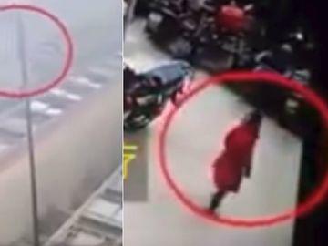 Imagini șocante! O fetiţă de 6 ani a căzut de la etajul 26! După nefericitul eveniment s-a ridicat și a plecat! E miraculos ce a salvat-o