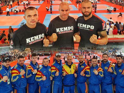 Echipa României, condusă de Faimoși, a devenit campioană mondială la Kempo! Yamato Zaharia și Mirel Drăgan au făcut show în ring