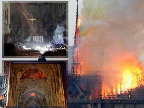 Primele imagini din interiorul Catedralei Notre Dame după incendiul devastator! Ce a mai rămas din simbolul Parisului
