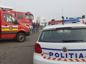 Accident GRAV în Capitală! 8 mașini lovite, după ce un TIR a scăpat de sub control