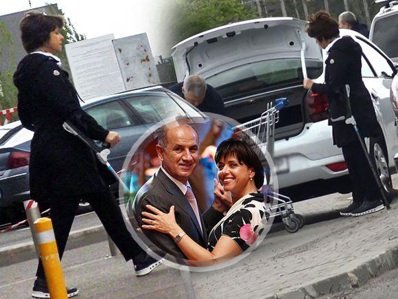 Fosta soție a lui George Copos a ajuns în cârje! Cristiana Copos nu a renunțat totuși la shopping VIDEO