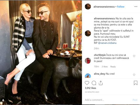 "Alina de la Bravo, ai stil!, mesaj cutremurator despre Razvan Ciobanu: ""Astept sa ma suni si sa-mi spui sa ma linistesc pentru ca este o alta gluma de-ale tale"""