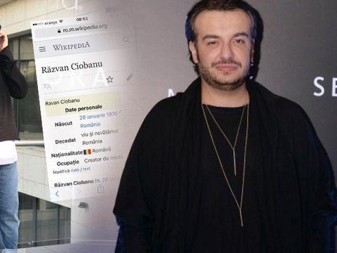"""Gafă aiuritoare după moartea lui Răzvan Ciobanu! Pe Wikipedia a apărut scris: """"Decedat: viu și nevătămat"""" FOTO"""
