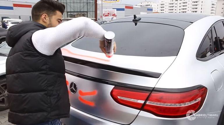 Iancu Sterp de la Puterea Dragostei i-a vandalizat maşina fratelui său! Vezi cum a reacţionat Culiţă Sterp după ce şi-a văzut limuzina mâzgălită cu spray! VIDEO