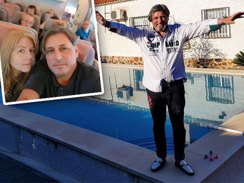 """Cornel Galeș se relaxează la piscină, în Spania! """"Văduvul"""" Ilenei Ciuculete a devenit din nou vesel"""