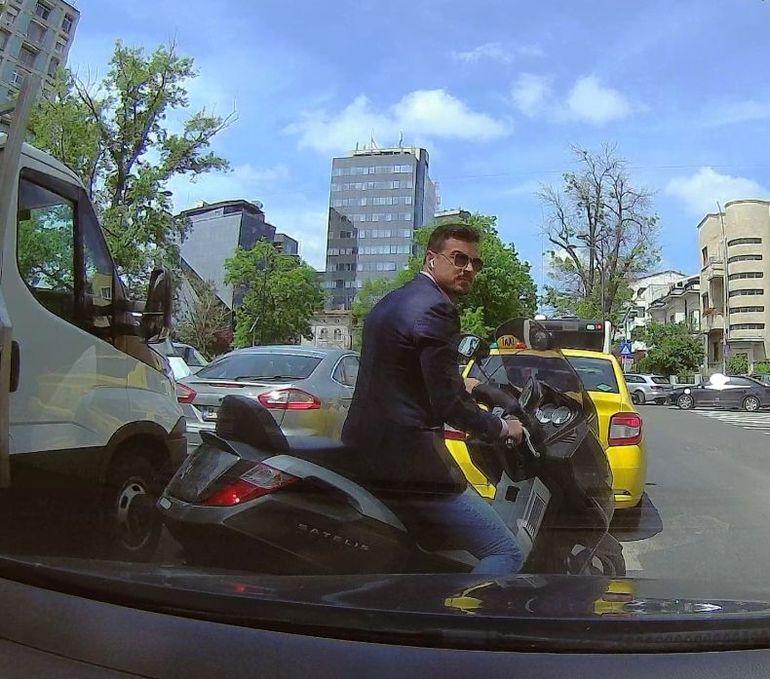 Imagini de senzație cu Adrian Alexandrov! Ce face logodnicul Elenei Udrea prin traficul din București VIDEO EXCLUSIV