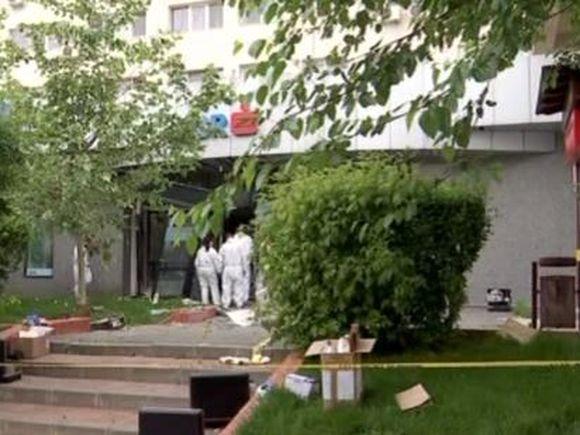 Explozie la sediul unei banci din Bucuresti. Hotii au fugit cu 350.000 de lei