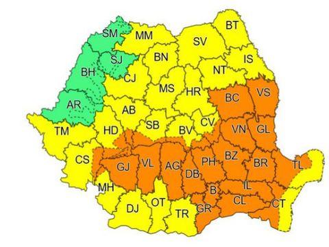 Cod portocaliu de ploi puternice în București și în țară. Cum va fi vremea în Capitală și în toată România