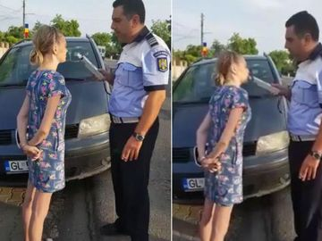 Viral! O șoferiță din Galați, pusă să sufle în alcooltest. Momentul a fost distribuit de mii de ori