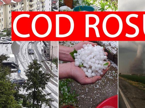 Cod roșu de furtună și grindină! Avertizarea de ultimă oră a meteorologilor