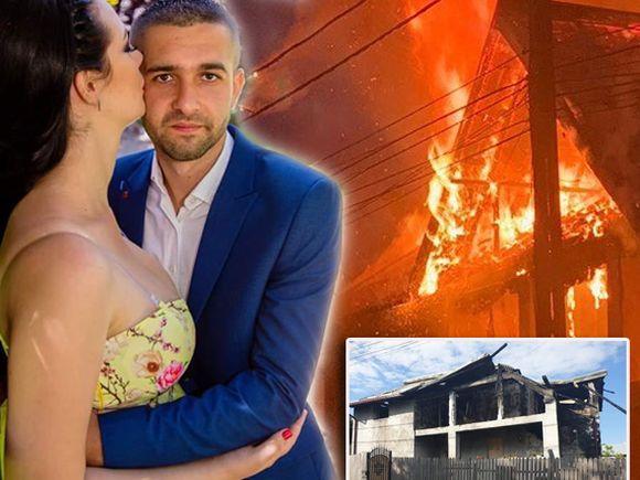Mădălina și soțul ei au fost scoși din casă de claxoanele vecinilor! Locuința lor era în flăcări! Povestea cutremurătoare a unei familii din Mioveni care acum are nevoie de ajutorul nostru