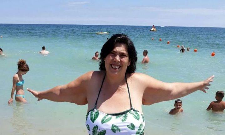 Ioana Tufaru, în costum de baie după ce a slăbit 70 kg.  Așa a apărut pe plajă-n Costinești