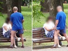 Imagini scandaloase la Cluj! Un bărbat și o femeie trecuți de prima tinerețe au fost filmați în ipostaze intime în Parcul Central