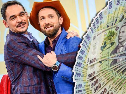 Cine câştigă mai mult din televiziune, Dani sau Răzvan? Oţil şi Simion au încasat împreună peste o jumătate de milion de euro!