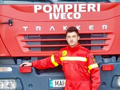 Andrei era fotbalist la Academia lui Hagi, dar după moartea tatălui său salvând alți oameni, s-a făcut pompier