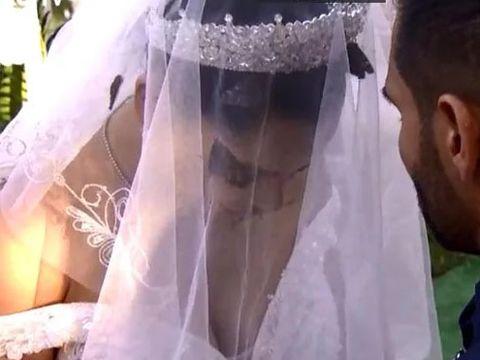 Moment neplăcut la nunta lui Brigitte cu Florin Pastramă! Au adus fluturi, dar aceștia le-au zburat direct în față! Scena incredibilă a fost filmată