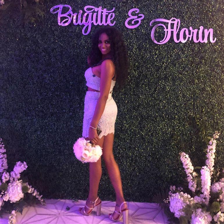 Cine a prins buchetul la nunta lui Brigitte cu Florin Pastramă! E o bombă sexy din showbiz