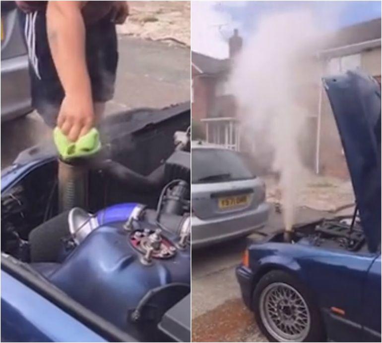 Șocant! Un tânăr de 19 ani a fost la un pas de moarte, după ce radiatorul mașinii i-a bubuit în față