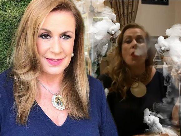 Incredibil cum a fost surprinsă Laura Zapata la un restaurant! N-a fumat niciodată tigări, dar trage cu nesaţ dintr-o narghilea! FOTO!