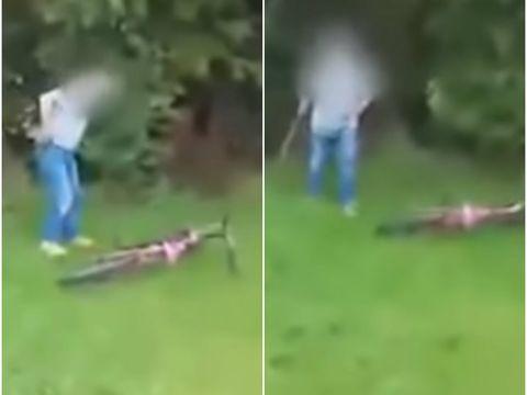 Cumplit! Un pensionar a târât o fetiță de 12 ani în tufișuri și a agresat-o sexual. Întreaga scenă a fost filmată