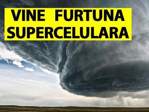 """Vine furtuna semicelulară în România! Este """"mama tuturor furtunilor""""! Vedem și la noi ce s-a întâmplat în Grecia?!"""