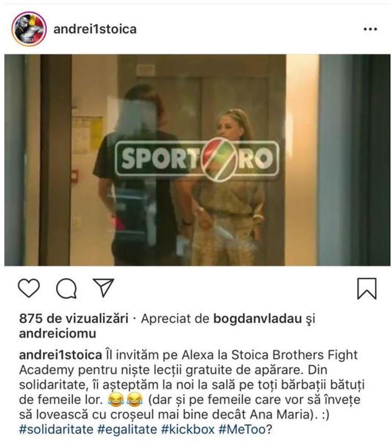 Andrei Stoica de la Exatlon, reacție fabuloasă după ce Prodanca l-a lovit în față pe Alexa! Te prăpădești de râs când vezi cum a comentat luptătorul incidentul