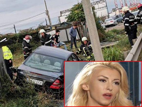 Andreea Bălan, strigăt disperat de ajutor după un accident cumplit! Mercedes-ul s-a făcut praf!