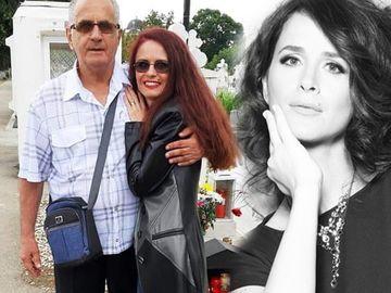 """Apariție INCREDIBILĂ la mormântul Mădălinei Manole! Tatăl și fratele artistei s-au pozat cu """"clona"""" solistei FOTO"""