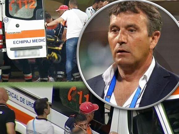 Meciul Dinamo - Craiova a fost întrerupt! Antrenorul de la Dinamo, luat de urgență cu ambulanța
