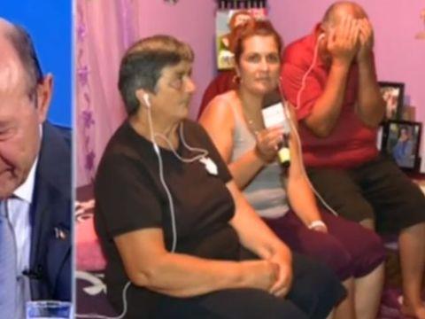 """Traian Băsescu, în lacrimi la TV, impresionat de crimele de la Caracal: """"Poate că Alexandra era în viață"""""""