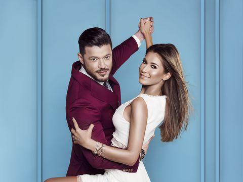 """Victor Slav și Cristina Mihaela, prezentatorii emisiunii """"Îmi place dansul"""", ce va fi difuzată în această toamnă la Kanal D"""