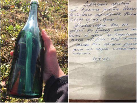 Un bărbat a găsit o sticlă cu un mesaj care a plutit pe apă timp de 50 de ani! Ce scria pe hârtia mototolită
