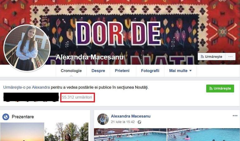 """Contul de Facebook al Alexandrei a """"explodat""""! Ce se întâmplă acum pe pagina de socializare a fetei dispărute la Caracal?"""