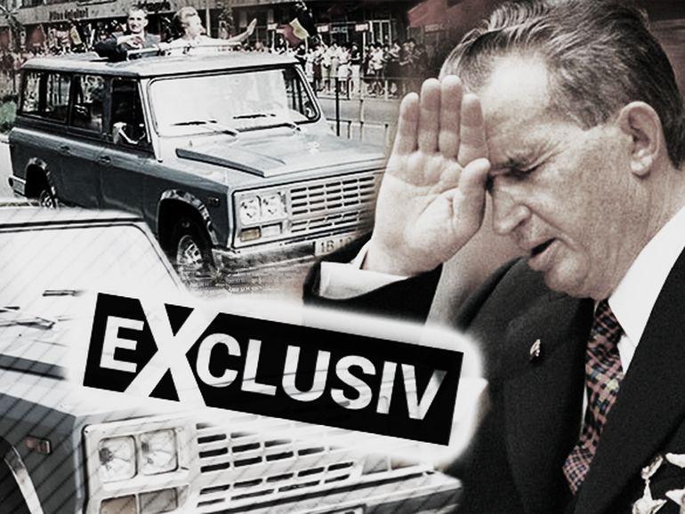 Mașina ARO a lui Nicolae Ceaușescu a ajuns într-o... păstrăvărie! Vezi cum arată mașina de lux evaluată la 30000 de euro FOTO EXCLUSIV