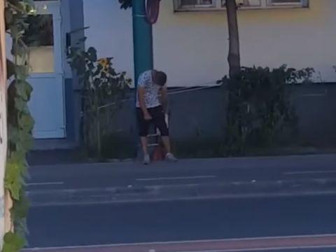 """Timișoara: un tânăr a fost filmat, după ce s-a drogat cu """"zombie"""""""