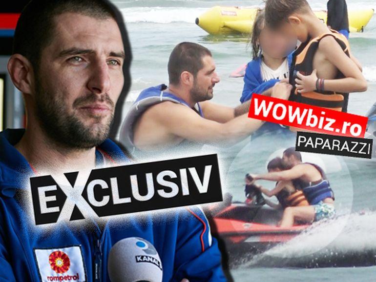 Cătălin Cazacu și-a plimbat fiul cu ski-jetul! Andrei a moștenit pasiunea pentru motoare de la tatăl său VIDEO EXCLUSIV