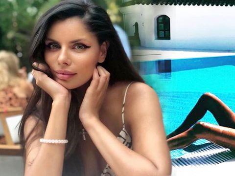 Imagini fabuloase cu Ileana Lazariuc, singură și sexy, la piscină